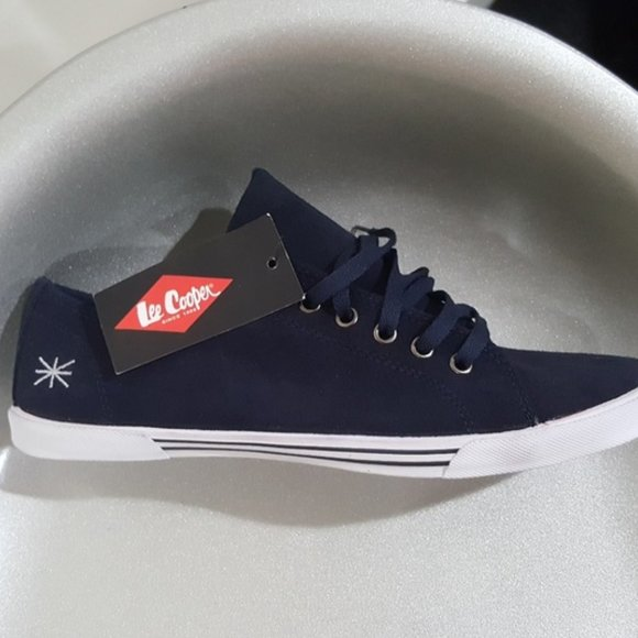 Lee Cooper Shoes | Suede Blue Canvas Lo